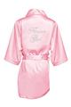 Zynotti Rhinestone Flower Girl Satin Robe