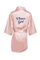 Zynotti's Flower Girl Robe with Glitter Print - Blush