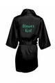 Zynotti's Flower Girl Robe with Glitter Print - Black