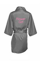 Zynotti's Flower Girl Robe with Glitter Print - Charcoal