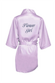 Zynotti's Flower Girl Robe with Glitter Print - Lavender