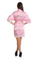 Zynotti's Personalized Rhinestone Satin Lace Robe