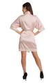 Personalized Rhinestone Initial Lace Satin Robe