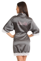Zynotti's Personalized Metallic Print Satin Lace Robe