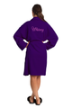Zynotti's Embroidered Women's Velour Shawl Robe