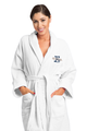 Zynotti's Unisex Personalized Embroidered Overlay Velour Shawl Robe