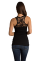 Zynotti's Lace Tank with Rhinestone Big Bling Mother of the Groom