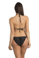 Zynotti classic triangle string tie black bikini set. Perfect vacation black swimwear. Light, comfortable, and durable black swimsuit.