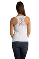 ZYNOTTI Big Bling Rhinestone Bride Lace Tank Top