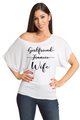 Zynotti Girlfriend, Fiancee, Wife Bachelorette Engagement Party White Tee Shirt Top