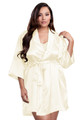 Zynotti plus size wedding getting ready bridal party kimono ivory beige off-white satin robe