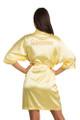 Zynotti Custom Rhinestone Quinceanera Yellow Satin Robe