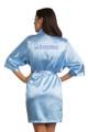 Zynotti Custom Rhinestone Quinceanera Sky Blue Satin Robe