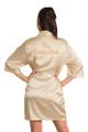 Custom Rhinestone Mis Quince Años Satin Kimono Robe | Mis Quince Años Bata de Diamantes de imitacion