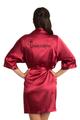 zynotti glitter print quinceanera crimson red satin robe | bata de quinceanera rojo carmesi
