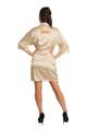 Zynotti metallic print dama champagne gold satin robe for quinceanera