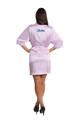 Zynotti metallic print dama lavender purple satin robe