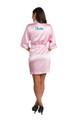 Zynotti metallic print dama pink satin robe for quinceanera