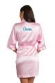 Zynotti metallic print dama pink satin robe