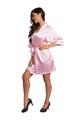 Zynotti pink kimono satin robe