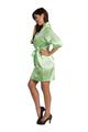 Zynotti lime green kimono satin robe
