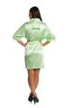 Zynotti glitter print dama lime green satin robe