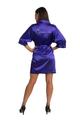 Zynotti Rhinestone Quinceanera Regal Purple Satin Robe