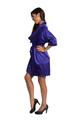 Zynotti Regal Purple Kimono Satin Robe