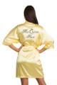 Zynotti Rhinestone Mis Quince Años Quinceañera Yellow Satin Robe