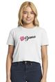Zynotti dama de la quinceanera white crop shirt