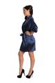 Zynotti Navy Blue Satin Robe
