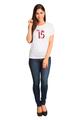 Zynotti Custom Glitter Mis Quince Anos White T-Shirt