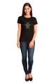 Zynotti Custom Rhinestone Mis Quince Anos  Black T-Shirt