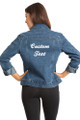 Zynotti Custom Embroidered Jean Jacket Back Cropped