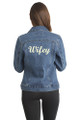 Zynotti Custom Embroidered Jean Jacket Wifey Cropped