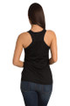 Bride to Be Tank Top - Heart Design - Back Crop - Black