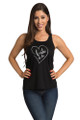 Bride to Be Tank Top - Heart Design - Front Crop- Black