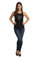 Bride to Be Tank Top - Heart Design - Front Full- Black