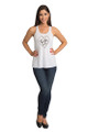 Bride to Be Tank Top - Heart Design - Front Full- White