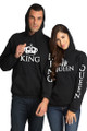 King and Queen Couples Matching Hoodie Set
