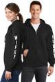 Hubby & Wifey Couples Matching Full-Zip Black Sweatshirt Set