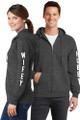Hubby & Wifey Couples Matching Full-Zip Charcoal Grey Sweatshirt Set