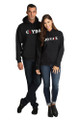 Bonnie and Clyde Couples Matching Pull-Over Hooded Sweatshirt