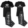 King & Queen Matching Couples T-Shirt Set and Pajama