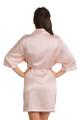 Personalized Embroidered Monogram Satin Blush Robe