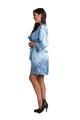 Custom Glitter Print Skyblue Robe