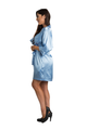 Personalized Embroidered Sky Blue Satin Robe
