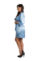 Personalized Rhinestone Sky Blue Satin Robe