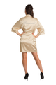 Bridesmaid Rhinestone Gold Satin Robe