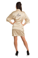 personalized gold satin robe